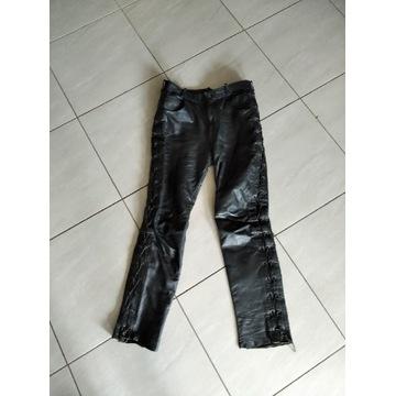 Spodnie męskie gruba skura z podpinką