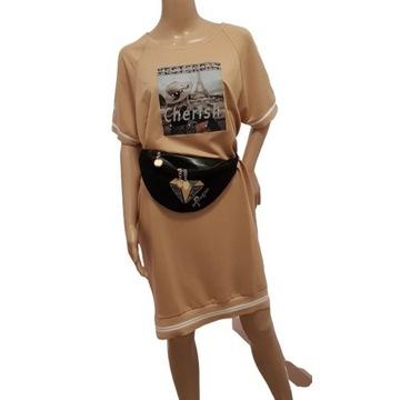 Sukienka Letticia beżowa M/L