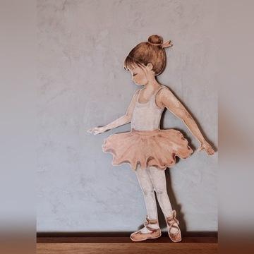Panel ścienny baletnica, drewniany obraz scienny