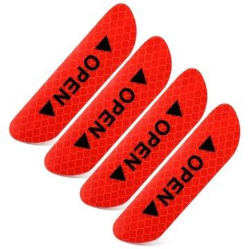 4szt odblaski ostrzegawcze OPEN na drzwi Licytacja