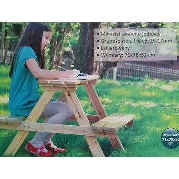 Stolik z ławeczkami dla dzieci ŁAWECZKA ŁAWKA nowy