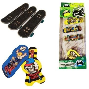 Zestaw Mini Fingerboard 3 szt + kartoniki Mix