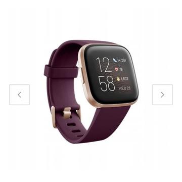 Fitbit Versa 2 kolor bordowy