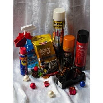 Zestaw WD-40 Plak odmrażacz silikon smar prezent