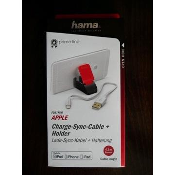 Kabel Lightning Hama Apple + Uchwyt do IPhone NOWY