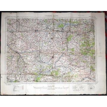 Mapa wojskowa 1938 r., Francja Amiens-Mons, A. 5