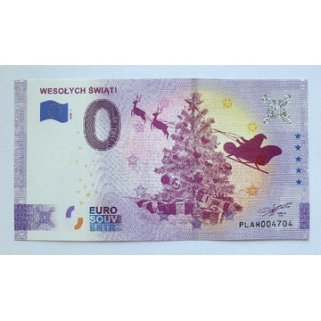 0 euro Wesołych Świąt ANNIVERSARY