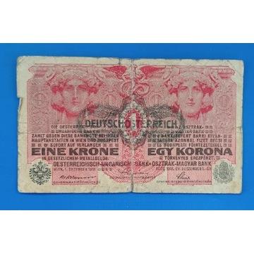 Banknot Austro-Węgry  , 1 Korona 1916 Z NADRUKIEM