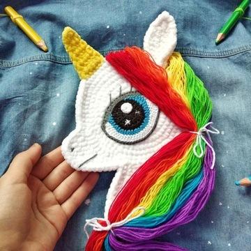 My Little Pony Naszywka Łatka Hand Made szydełko