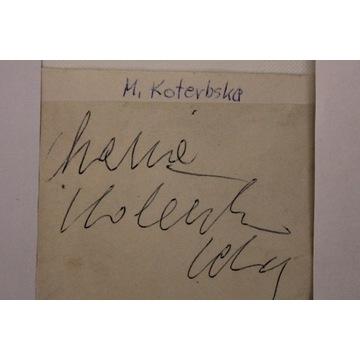 autograf Maria Koterbska
