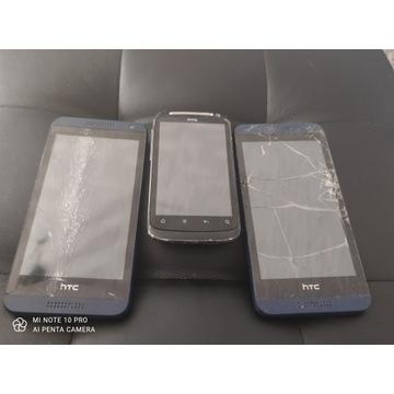 Licytacja 3 smartfonów uszkodzonych HTC