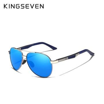 Okulary polaryzacyjne KINGSEVEN niebieskie aviator