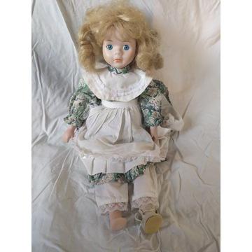 Kolekcjonerska Lalka porcelana vintage 45cm antyk