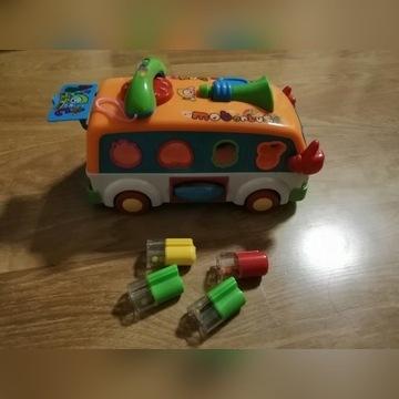 Autobus dla dzieci, gra, świeci