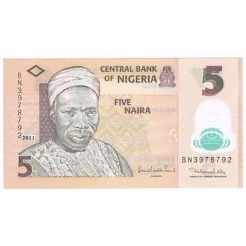 NIGERIA 5 Naira 2011