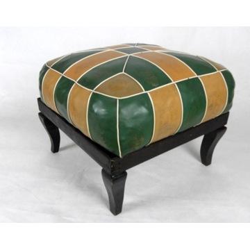 Stylowy podnóżek do fotela, sofy /żółto-zielony