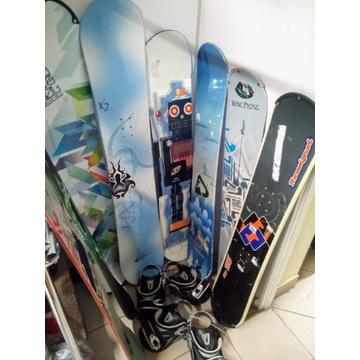 Pakiet deski snowboardowe z wiązaniem rentalowym