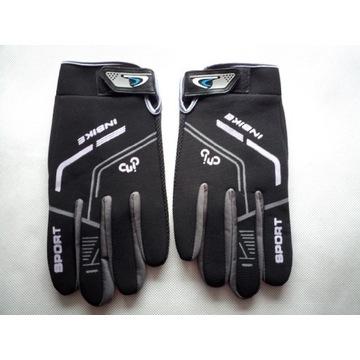 Rękawiczki rowerowe długie InBike czarne XL