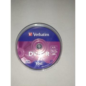 Płyty Verbatim DVD+R 4,7GB 16x AZO 10szt/45opak