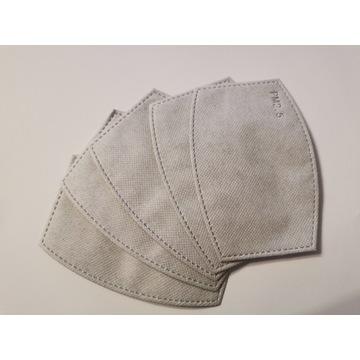 Filtr węglowy PM 2.5 do maski ochronnej 5 sztuk