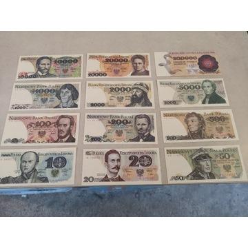 Banktoty PRL 12 szt