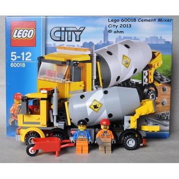 Jak nowe Lego City 60018 betoniatka komplet