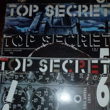Czasopisma TOP SECRET (4 szt.) ATARI C64