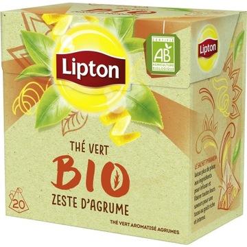 lipton BIO herbata zielona ze skórką 20szt.