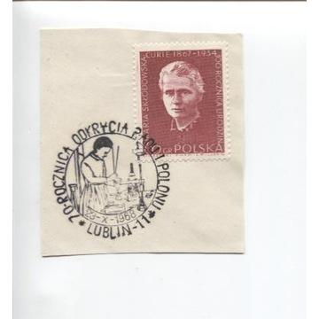 70 ROCZNICA ODKRYCIA RADU I POLONU 1968-WYCINEK