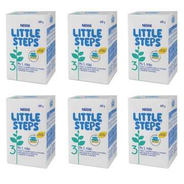 NESTLE LITTLE STEPS 3 mleko modyfikowane 6x600g