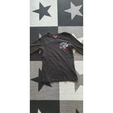 Czarna koszulka na długi rękaw Lupilu 110/116