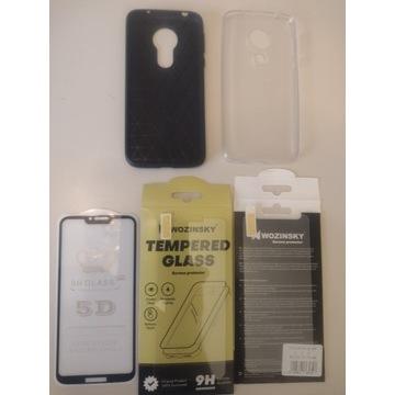 Motorola G7 power pokrowce i szkła komplet