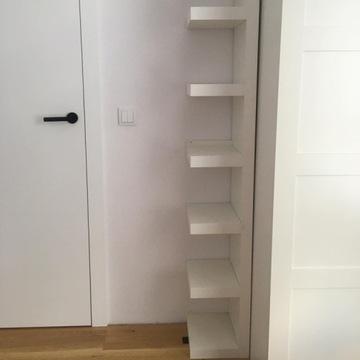 Półka IKEA grzebień biała