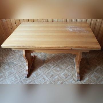 Stół kuchenny drewniany, duży rozkładany