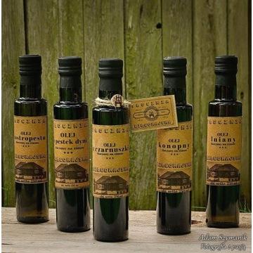 Świeży olej z pestek dyni tłoczony na zimno 250 ml