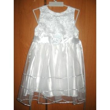sukienka okolicznościowa, chrzest, roczek  dz92 cm