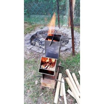 Piecyk rakietowy turystyczny kuchenka DIY KIT