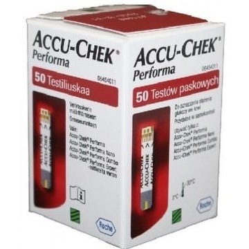 Paski do glukometru ACCU-CHEC Performa 50 szt Nowe