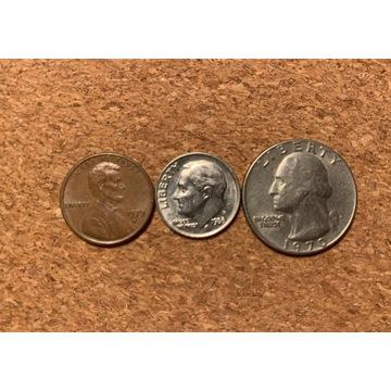 USA: One Cent, One Dime, Quarter. 1970.