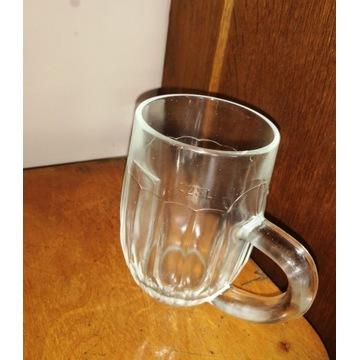 szklany kufel Huta Hortensja sygnatura