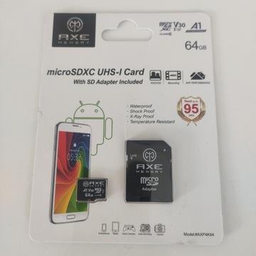 Karta pamięci z adapterem Axe memory 64 GB