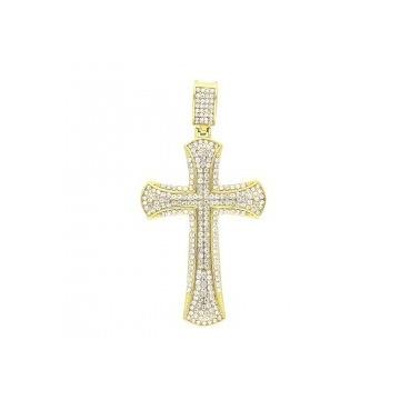 Krzyż cyrkoniowy cyrkonie piękny!!!