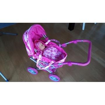 Wózek dla lalek Smiki gondola spacerówka składany