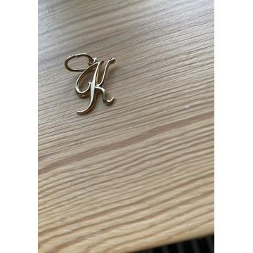 Zawieszka literka K ze złota próby 585 wisiorek