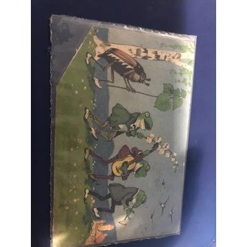 Stara pocztówka Żaby
