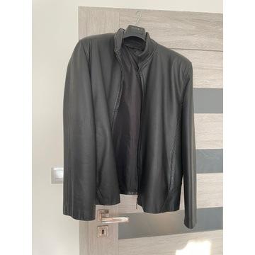 Czarna, męska, skórzana kurtka, rozm. L/XL