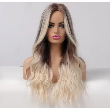 Piekna peruka blond ombra  jakoś włosa Polecam