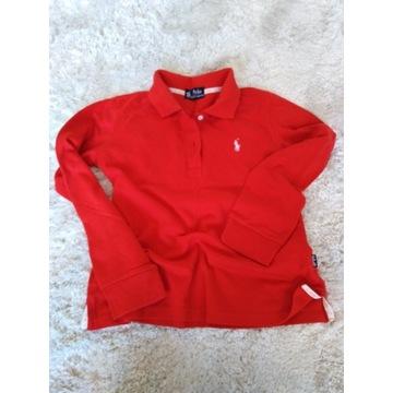 Ralph Lauren czerwona bluzka koszulka polo