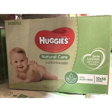Huggies husteczki nawilżane 10x56