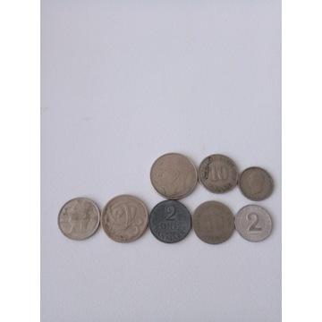 Zestaw monet 8 sztuk